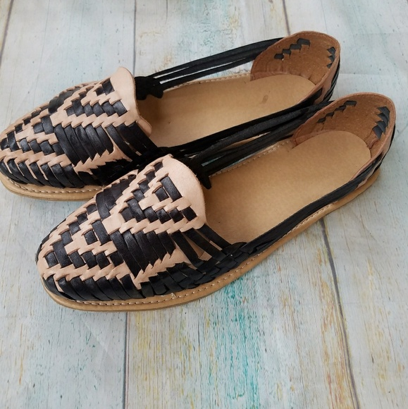 f7e1af44d6cf New Black Tan Handmade Mexican Huaraches Sandals